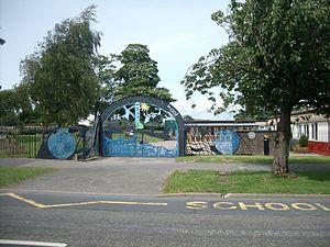 Ulverston - Entrance to Croftlands Infant School