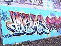Crouch End Hill Bridge graffiti - geograph.org.uk - 1621476.jpg