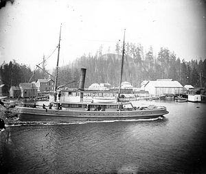 Steamboats of Grays Harbor and Chehalis and Hoquiam Rivers - Image: Cruiser (Grays Harbor steamboat 1900)