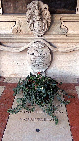 Santino Solari - Crypt 31 (Petersfriedhof Salzburg): the grave of Santino Solari