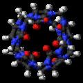 Cucurbit(5)uril (top) 3D ball.png