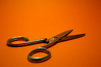 A pair of scissors.