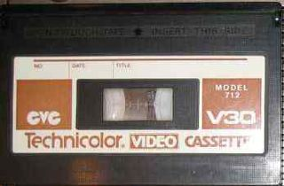 Compact Video Cassette Magnetic tape-based consumer videocassette format