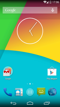 CyanogenMod 10 homescreen screenshot.png