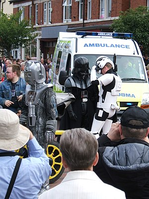 Cyberman%2C Darth Vader and Stormtrooper