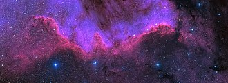 Cygnus (constellation) - The North America Nebula (NGC 7000) is one of the most well-known nebulae in Cygnus.