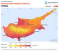 Cyprus PVOUT Photovoltaic-power-potential-map GlobalSolarAtlas World-Bank-Esmap-Solargis.png