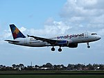 D-ABDB Small Planet Airlines Germany Airbus A320-214 landing at Schiphol (EHAM-AMS) runway 18R pic1.JPG