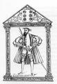 D. João de Castro laureado (ilustração atribuída a Gaspar Correia para o manuscrito de Lendas da Índia).png