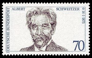 100th day of birth of Albert Schweitzer (1875–...
