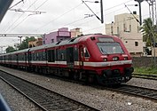 Newer red train