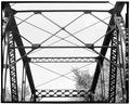 DETAIL VIEW OF SWAY BRACING - State Highway Bridge No. 16, Spanning Kickapoo River, La Farge, Vernon County, WI HAER WIS,62-LAFA.V,2-4.tif