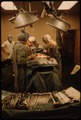 DR. HOWARD VOGEL, THIRD FROM LEFT, IS ASSISTED BY HIS DAUGHTER, DR. ANN VOGEL, AS THEY PERFORM THE LAST CAESAREAN... - NARA - 558174.tif