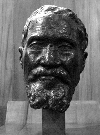 1564 in art - Bust of Michelangelo from a death mask by Daniele da Volterra (1564)