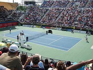 Culture of the United Arab Emirates - The Dubai Tennis Championships in 2006.