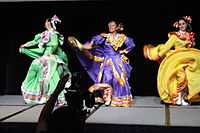 Dancing at the Wikimania 2015 Opening Ceremony IMG 7607.JPG
