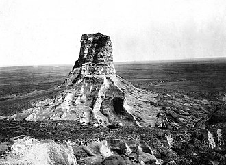 Courthouse and Jail Rocks - Jail Rock from the west (1897)