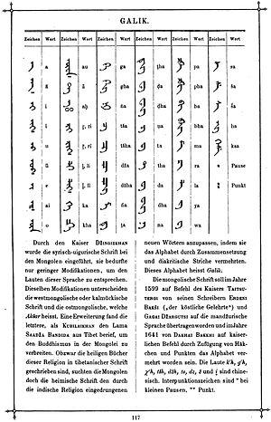 Galik alphabet - Image: Das Buch der Schrift (Faulmann) 132