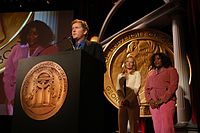 David E. Kelley, Jeri Ryan and Loretta Devine, May 2003 (4).jpg