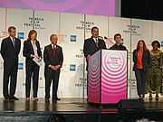 New York Governor David Paterson opens the 2008 Tribeca Film Festival.