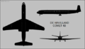 De Havilland Comet 4B three-view silhouette.png
