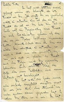 Letter to his father wikipedia letter to his father altavistaventures Images