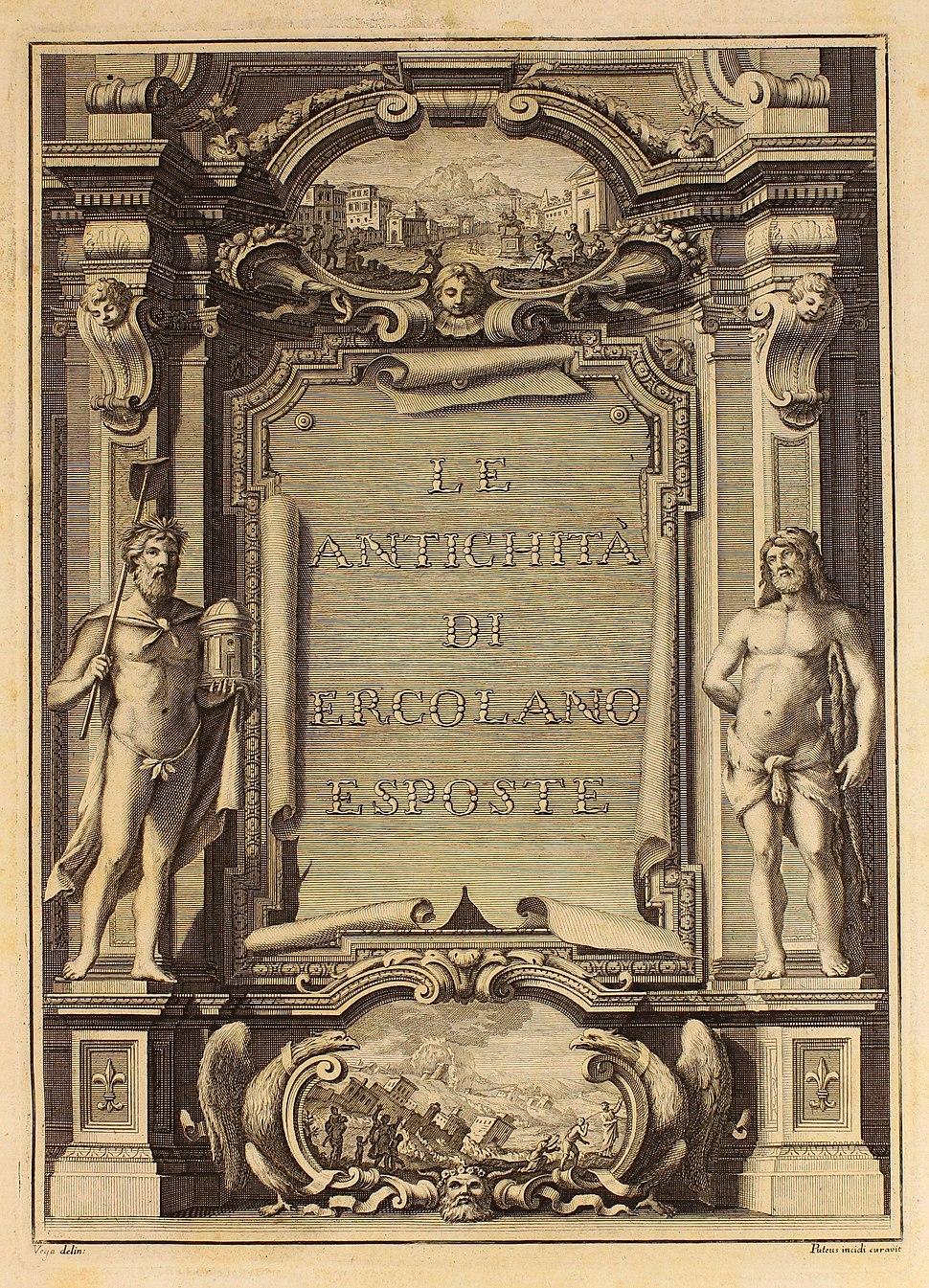 """Delle antichità di Ercolano, 1757-1779 (T. I-VII) 10000 a """"Frontispicio"""" (23357181519)"""