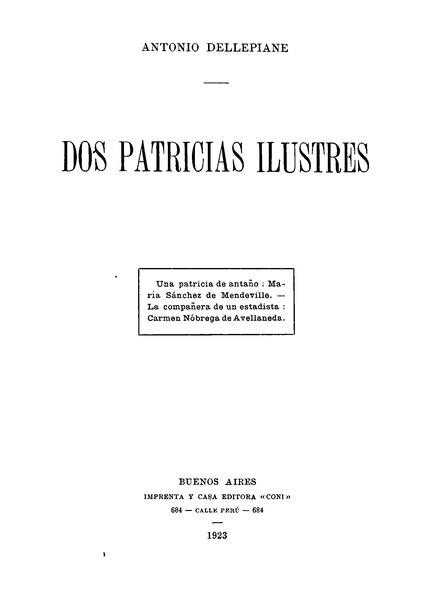 File:Dellepiane Dos patricias ilustres.djvu