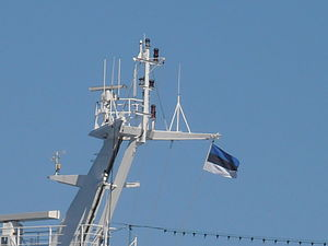 Delphin Top Flag of Estonia 8 May 2012 Tallinn.JPG