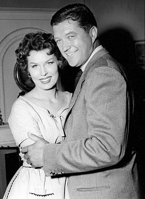 Crossroads (1955 TV series) - Jean Willes and Dennis Morgan in Crossroads (1955)