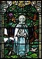 Derry Guildhall Tercentenary Window of The Honourable The Irish Society Left Side Window Detail Saint Columba 2019 08 29.jpg