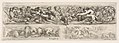 Designs for Three Friezes with Hunting Themes, Plate 9 from- 'Decorative friezes and foliage' (Ornamenti di fregi e fogliami) MET DP833579.jpg