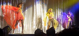 Destiny's Child - The final line-up of Destiny's Child performing during their 2005 Destiny Fulfilled... and Lovin' It concert tour.