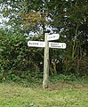 Detail of the Finger Post on E side of the Road Junction. - geograph.org.uk - 60708.jpg