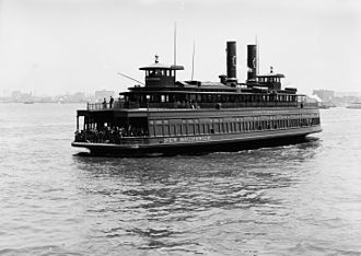 Desbrosses Street Ferry - The New Brunswick was one of the Pennsylvania Railroad's ferries across the Hudson, 1905