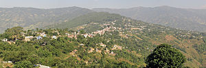 Dhankuta - Looking north to Dhankuta Bazaar from Chuliban