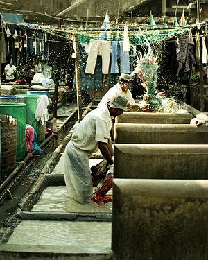 Dhobi Ghat - Individual wash pens at Dhobi Ghat