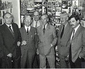 John Angelo Jackson - 30th Anniversary of Plas y Brenin. G.I. Milton, Justin Evans, Sir Jack Longland, Dave Alcock, John A Jackson and John Barry
