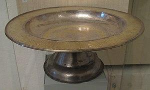 Paten - Gilded silver diskos (16th century, Pskov).