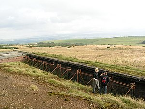 Churchill Barracks - Disused shooting range south-west of Ayr, which formed part of the facilities associated with Churchill Barracks