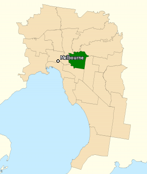 Division of Kooyong - Division of Kooyong in Victoria, as of the 2016 federal election.