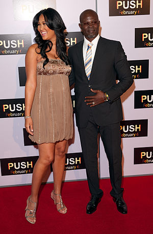 Kimora Lee Simmons - Djimon Hounsou and Kimora Lee Simmons arrive at the premiere of Push, Mann Theater, Westwood, 2009.