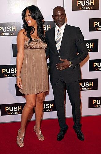 Kimora Lee Simmons - Djimon Hounsou and Kimora Lee Simmons arrive at the premiere of Push, Mann Theater, Westwood, 2009.