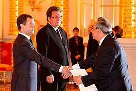 Dmitry Medvedev with Afif Safieh.jpg