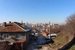 Dobrich, looking toward city center from Hristo Botev area.JPG