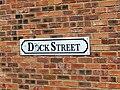 Dock Street, Leeds street sign (24th June 2010).jpg