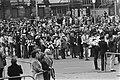 Dodenherdenking op Dam in Amsterdam moment tijdens plechtigheid (rijtje medaill, Bestanddeelnr 928-5586.jpg