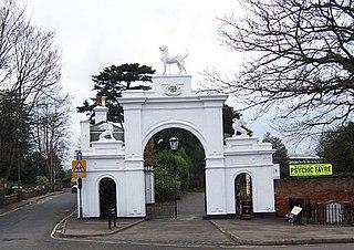 Ewell town in Surrey, UK