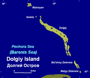 Dolgy Island - Map of Dolgy and adjacent small islands