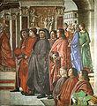 Domenico ghirlandaio, cappella Tornabuoni, annuncio dell'angelo a zaccaria, detail.jpg